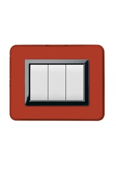 PLAQUE PERSONAL 44 RECTANGULAIRE ROUGE POMPEI 3 MODULES