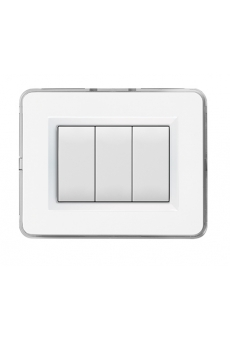 PLAQUE PERSONAL 44 RECTANGULAIRE BLANC 3 MODULES