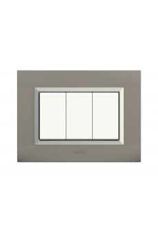 plaque nova  gris cadre chromé