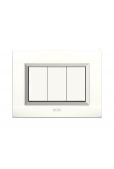 plaque nova blanc cadre chromé