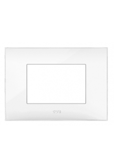 PLAQUE YOUNG 44 RECTANGULAIRE BLANC 3 MODULES