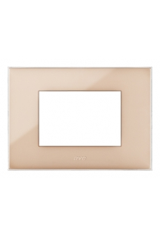 PLAQUE YOUNG 44 RECTANGULAIRE BEIGE 3 MODULES