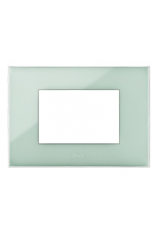 PLAQUE YOUNG 44 RECTANGULAIRE VERT CLAIRE 3 MODULES