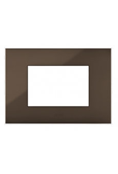 PLAQUE YOUNG 44 RECTANGULAIRE MARRON 3 MODULES