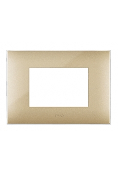 PLAQUE YOUNG 44 RECTANGULAIRE DOREE 3 MODULES