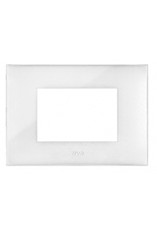 PLAQUE YOUNG 44 RECTANGULAIRE BLANC CRAIE 3 MODULES