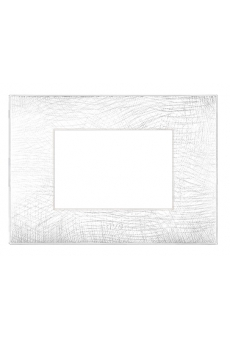 PLAQUE YOUNG 44 RECTANGULAIRE BLANC 3D 3 MODULES