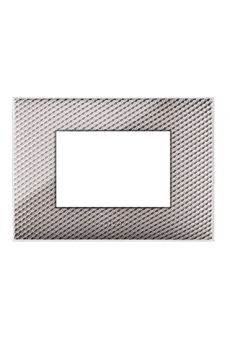 PLAQUE YOUNG 44 RECTANGULAIRE CARBONE CLAIRE 3 MODULES