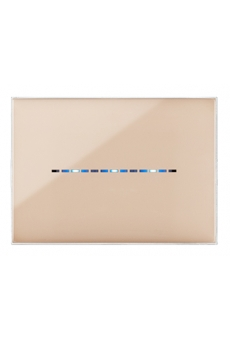 PLAQUE YOUNG TOUCH 44 RECTANGULAIRE BEIGE 3 MODULES