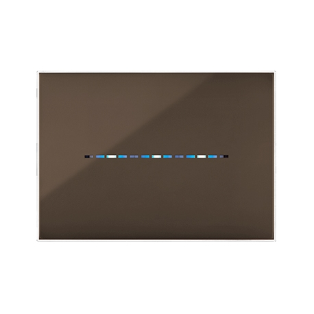PLAQUE YOUNG TOUCH 44 RECTANGULAIRE MARRON 3 MODULES