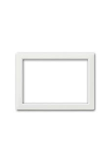 CADRE POUR ZAMA / PERSONAL 44 RECTANGULAIRE 3 MODULES BLANC