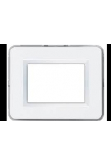 PLAQUE PERSONAL 44 RECTANGULAIRE BLANC 7 MODULES