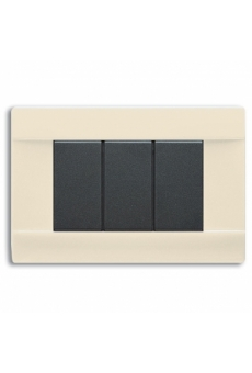 PLAQUE PENCHEE 45 RECTANGULAIRE IVOIRE 3 MODULES