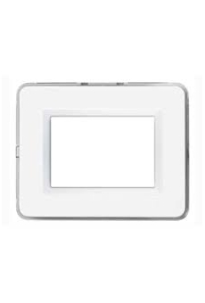 PLAQUE PERSONAL 44 RECTANGULAIRE BLANC 4 MODULES