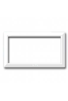 CADRE POUR ZAMA / PERSONAL 44 RECTANGULAIRE 4 MODULES BLANC