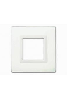 PLAQUE VERA 44 CARREE EN VERRE BLANC 2 MODULES
