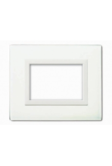 PLAQUE VERA 44 RECTANGULAIRE EN VERRE BLANC 3 MODULES