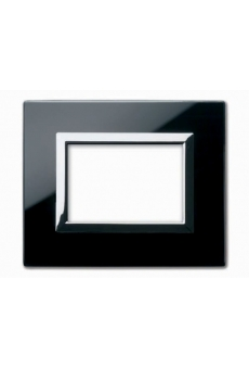 PLAQUE VERA 44 RECTANGULAIRE EN VERRE NOIR ABSOLU 3 MODULES
