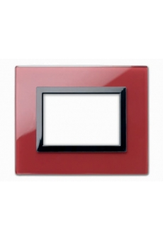 PLAQUE VERA 44 RECTANGULAIRE EN VERRE ROUGE POMPEI 3 MODULES