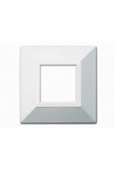 PLAQUE ZAMA 44 CARREE BLANC METALLISE 2 MODULES