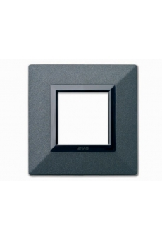 PLAQUE ZAMA 44 CARREE GRAPHITE 2 MODULES