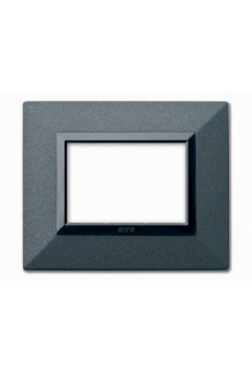 PLAQUE ZAMA 44 RECTANGULAIRE GRAPHITE 3 MODULES