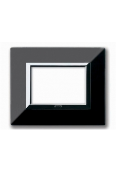 PLAQUE ZAMA 44 RECTANGULAIRE NOIR ABSOLU 3 MODULES