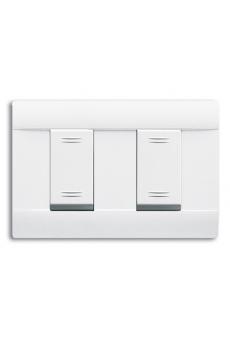"""Plaques """"Penchée 45"""" pour boîtes rectangulaires 2 (1+1) MODULES"""