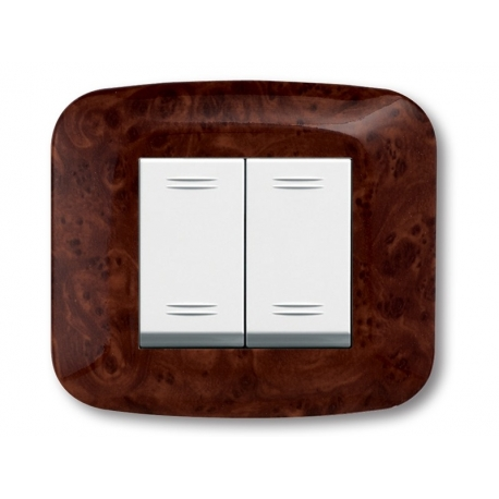 """Plaques """"YES 45"""" pour boîtes rondes et carrées  2 MODULES"""