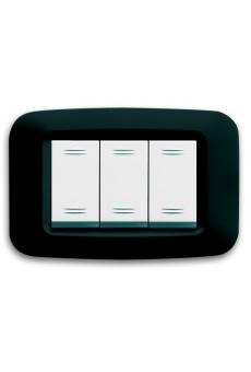 """Plaques """"YES 45"""" pour boîtes rectangulaires  3 MODULES"""